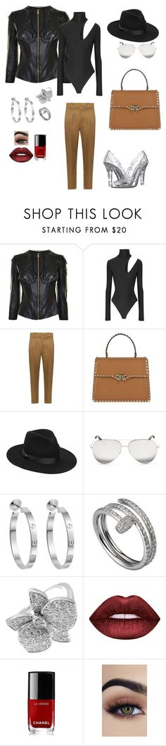 """Untitled #756"" by einatv ❤ liked on Polyvore featuring Versace, Alix, Étoile Isabel Marant, Valentino, Lack of Color, Victoria Beckham, Cartier, Lime Crime, Chanel and Dolce&Gabbana"