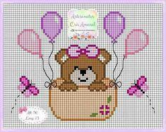 Vou fazer esse bordado pra minha vó. Ela ama passarinhos Baby Cross Stitch Patterns, Cross Stitch Borders, Cross Stitch Baby, Cross Stitch Charts, Cross Stitch Designs, Cross Stitching, Cross Stitch Embroidery, Hand Embroidery, Bobble Stitch