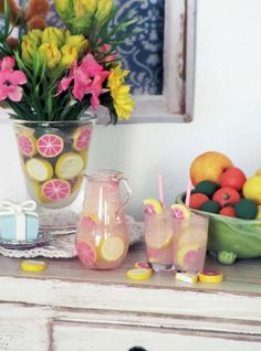 Pink LEMONADE   Hand Blown Glass Pitcher and by OneSixthSense