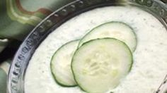Cool yogurt and cucumbers combine in this tangy Greek tzatziki recipe.