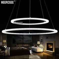 Find More Chandeliers Information about LED Chandelier Light Modern Arcylic LED ring Suspension Light Fixture, Circle LED lighting New Design MD5000,High Quality Chandeliers from Meerosee Lighting----Making life more colorful ! on Aliexpress.com