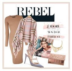 """""""Rebel"""" by jaellemass ❤ liked on Polyvore featuring Karen Millen, Urban Decay, A Peace Treaty, Valentino, women's clothing, women's fashion, women, female, woman and misses"""