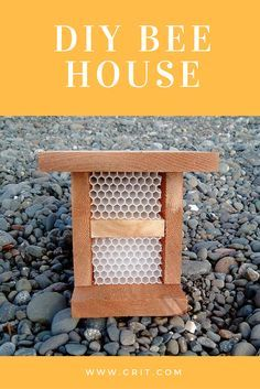 A bee box is a place where bees can find cover and create the next generation. You can make them quite easily, or, if you'd rather, you can buy them.