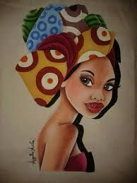 Resultado de imagem para desenho mulher africana