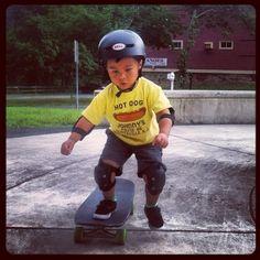 Skateboarding with Stone 07-25-13