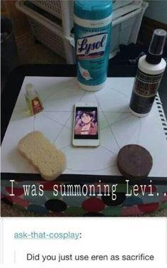 summoning Levi like