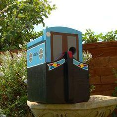 Narrowboat Personalised Bird Box - birds & wildlife
