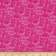 Tula Pink True Colors Daisy Buds Fuchsia from @fabricdotcom  Designed by Tula Pink for Free Spirit, this cotton print is perfect for quilting, apparel and home decor accents. Colors include shades of pink.