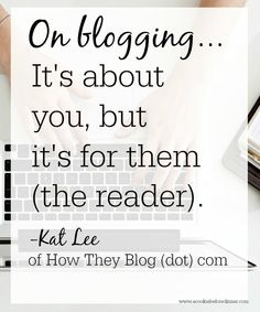 Blogging tip: Do you know who you're blogging for?
