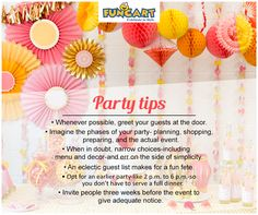 Checkout funcart.in for stress free party tips and cool parties supplies. #tipsforparty #party #tipoftheday