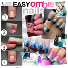 Ombre nails! by darcyy on Polyvore