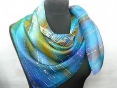 Simira - Ohnivý květ. Luxusní hedvábný šátek - jena Blue, Accessories, Fashion, Moda, Fashion Styles, Fashion Illustrations, Jewelry Accessories