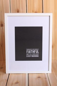 the bravest love is wildly faithful and it falls hard every morning. ann voskamp. $20