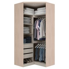 Corner Wardrobe Closet, Wardrobe Wall, Make A Closet, Wardrobe Design Bedroom, Small Wardrobe, Master Bedroom Closet, Wardrobe Storage, Small Closets, Built In Wardrobe