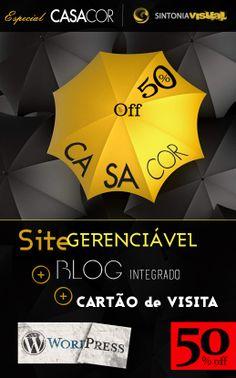 Especial CASACOR - Sintonia Visual.   50% de denconto para Arquitetos(as), Decoradores(as) e Designers na Criação de Site totalmente gerenciável + Blog Personalizado Integrado + Arte de Cartão de Visita GRATUITO!   Aproveite, oportunidade válida por tempo limitado.   Acesse: www.sintoniavisual.com   #criacaosite #criacao #site #gerenciavel #editavel #blog #personalizado #blogprofissional #arquitetura #interiores #decorador #decoradora #arquiteto #arquiteta