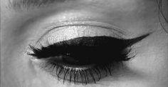 eyeliner + false lashes