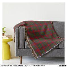 Scottish Clan MacKintosh McIntosh Tartan Throw Blanket