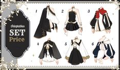 [Adopt Auction] Fantasy Outfits 29 [ OPEN ] by QuinnyIlada on DeviantArt Clothes Draw, Manga Clothes, Drawing Clothes, Anime Outfits, Boy Outfits, Cute Outfits, Casual Outfits, Fashion Design Drawings, Fashion Sketches