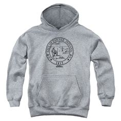 """Checkout our #LicensedGear products FREE SHIPPING + 10% OFF Coupon Code """"Official"""" Parks & Rec / Pawnee Seal-youth Pull-over Hoodie - Heather - Parks & Rec / Pawnee Seal-youth Pull-over Hoodie - Heather - Price: $49.99. Buy now at https://officiallylicensedgear.com/parks-rec-pawnee-seal-youth-pull-over-hoodie-heather"""