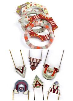 Trompe L'Oeil Mexican pendants and bracelets by Elke Kramer