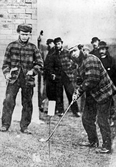 Old Tom Morris and a fellow called Charlie Hunter Playing at Prestwick Golf Course in 1860