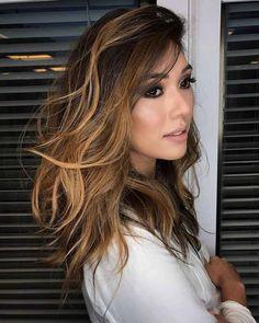 Cabelo Castanho iluminado - quer mudar a cor do cabelo? Veja muitas inspirações de cabelo castanho iluminado. Tendência de cabelo 2017.