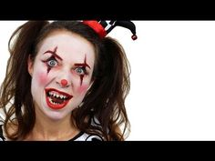 Scary Clown Makeup Tutorial - Halloween Face Paint - YouTube