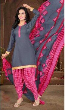 Slate Grey Color Crepe Silk Straight Cut Casual Wear Punjabi Patiyala Suit | FH535880780 >>> Follow Us @heenastyle <<< ----------------------------------------------- #punjabisuit #instalike #patialashahi #patialasuit #salwar #followme #sardarni #instaselfie #dupatta #instafollow #instamood #punjabisuit#indiandesignersuits#suits#salwarkameez#lehanga#kurtis#punjabifashion#bollywoodcelebritydresses #punjabikudi #punjaban #punjabi #punjab #punjabiquote #heenastyle #shopping #heenastyle