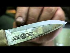 Ray Mears shows how to sharpen a knife that can be used to circumcise a gnat.