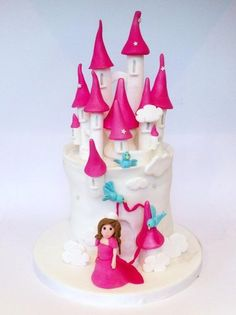 Princess Castle Cake  Cake by Sugarushbyclaire