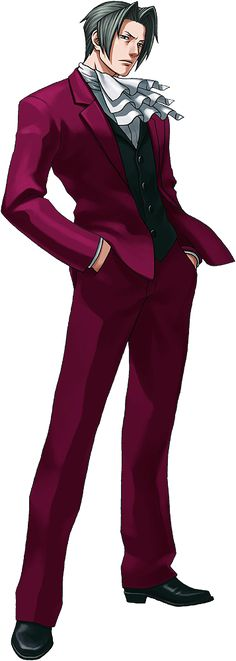 Miles Edgeworth from Ace Attorney. Again, can we get his second game in English now???
