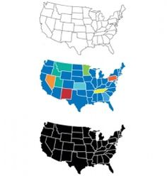 USA map vector free download | Carte du Monde ! | Pinterest | Vector ...