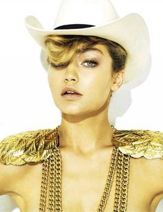 Gigi Hadid Goes Western Chic For S Moda, hair by Marco Santini of www.ionstudionyc.com