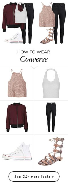 """jade insp"" by littlemixmakeup on Polyvore featuring H&M, Topshop, Converse, MANGO, VC Signature, women's clothing, women's fashion, women, female and woman"