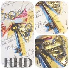 Vintage  Skeleton key with Swarovski Stamped by thehansenfamily, $36.00
