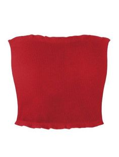 SHARE & Get it FREE | Ribbed Flounced Tube Top - Red SFor Fashion Lovers only:80,000+ Items • New Arrivals Daily Join Zaful: Get YOUR $50 NOW!