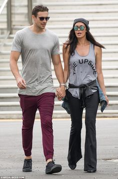 Out for a date! On Sunday, proud parents Megan Gale, 40, and partner Shaun Hampson, 27, es...