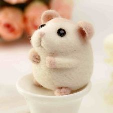 Fashion New Handicraft Wool Felt Woolen Needle Poke Hamster Mouse DIY Kits
