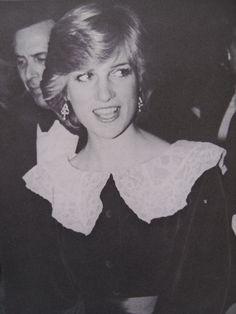 "November 3, 1981: Princess Diana at the 25th London Film Festival's opening night gala screening of ""Gallipoli"" featuring Mel Gibson."