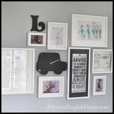 A Typical English Home: How to Create a Gallery Wall