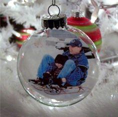 Glass Ball Photo Ornaments
