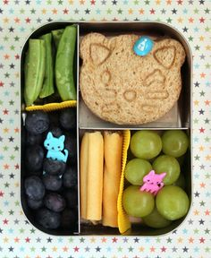 Kitty Bento Lunch in a LunchBots Trio