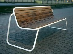 Bench with back FUNK by VESTRE | design Espen Voll, Micheal Olofsson, Tore Borgersen