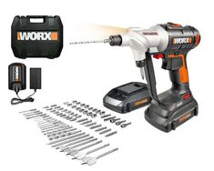 20V SWITCHDRIVER WORX DRILL & DRIVER W/ 67 PC. KIT GIVEAWAY The 20V Switchdriver is a cordless drill and driver with rotating dual chucks that let