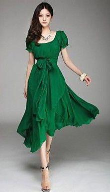 Irregular Chiffon Long Dress @scrapwedo  See more at http://www.fashionisly.com