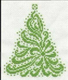 Resultado de imagem para free christmas tree cross stitch patterns