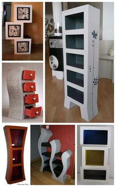 Delivers a good selection of bed room furniture & bedchamber sets along with home accents from Coaster Home furnishings. Diy Cardboard Furniture, Diy Furniture Projects, Cardboard Crafts, Wooden Crafts, Recycled Crafts, Home Furniture, Furniture Stores, Pallet House Plans, Funny Furniture