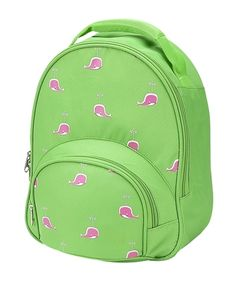 My Sweet Dreams Baby -Green with Pink Whales Personalized Toddler Backpack (http://www.mysweetdreamsbaby.com/travelbackpacks.htm)