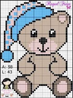 This Pin was discovered by ΕΛΕ Pixel Crochet Blanket, C2c Crochet, Tapestry Crochet, Crochet Chart, Crochet Baby, Cross Stitch Baby, Cross Stitch Animals, Cross Stitch Charts, Cross Stitch Designs