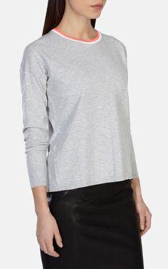 Contrast tipped jumper | Luxury Women's zz_criteo | Karen Millen